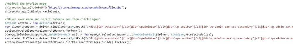 webdriver logout