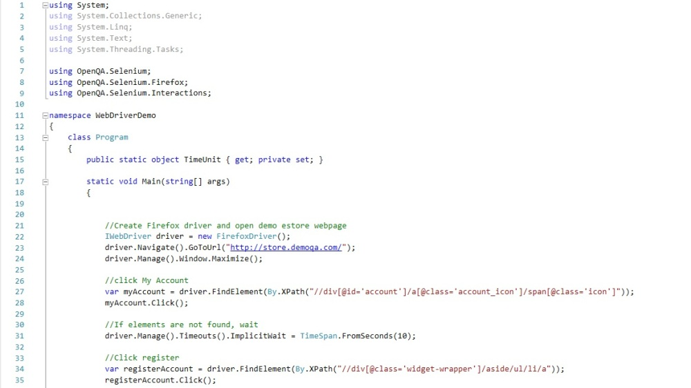 WEbdriver SElenium script