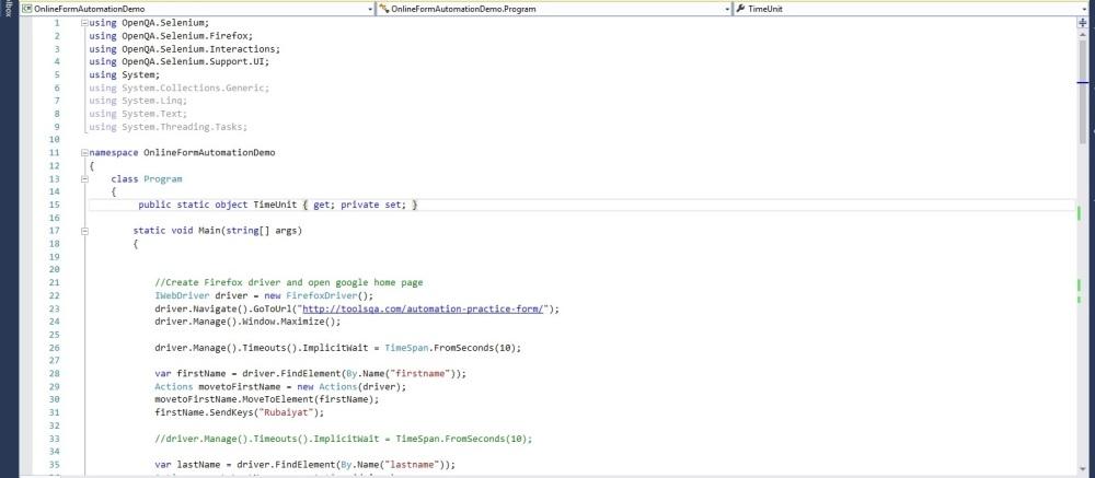 Online form code snippet 11
