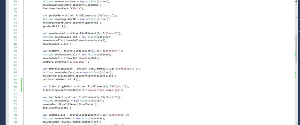 Online form code snippet 2