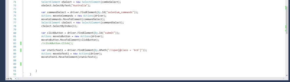 Online form code snippet 3