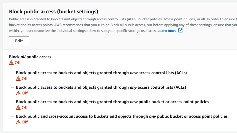 block public access